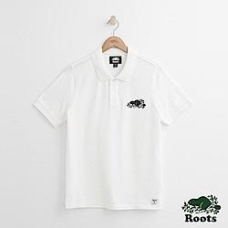 Roots 男裝-合身短袖POLO衫-白色