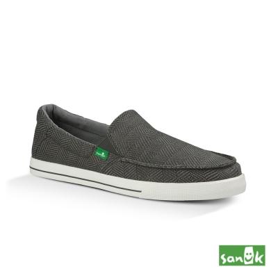 SANUK 復古人字編織紋休閒鞋-男款(灰色)