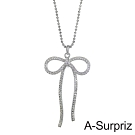 A-Surpriz 舞動蝶結晶鑽長項鍊