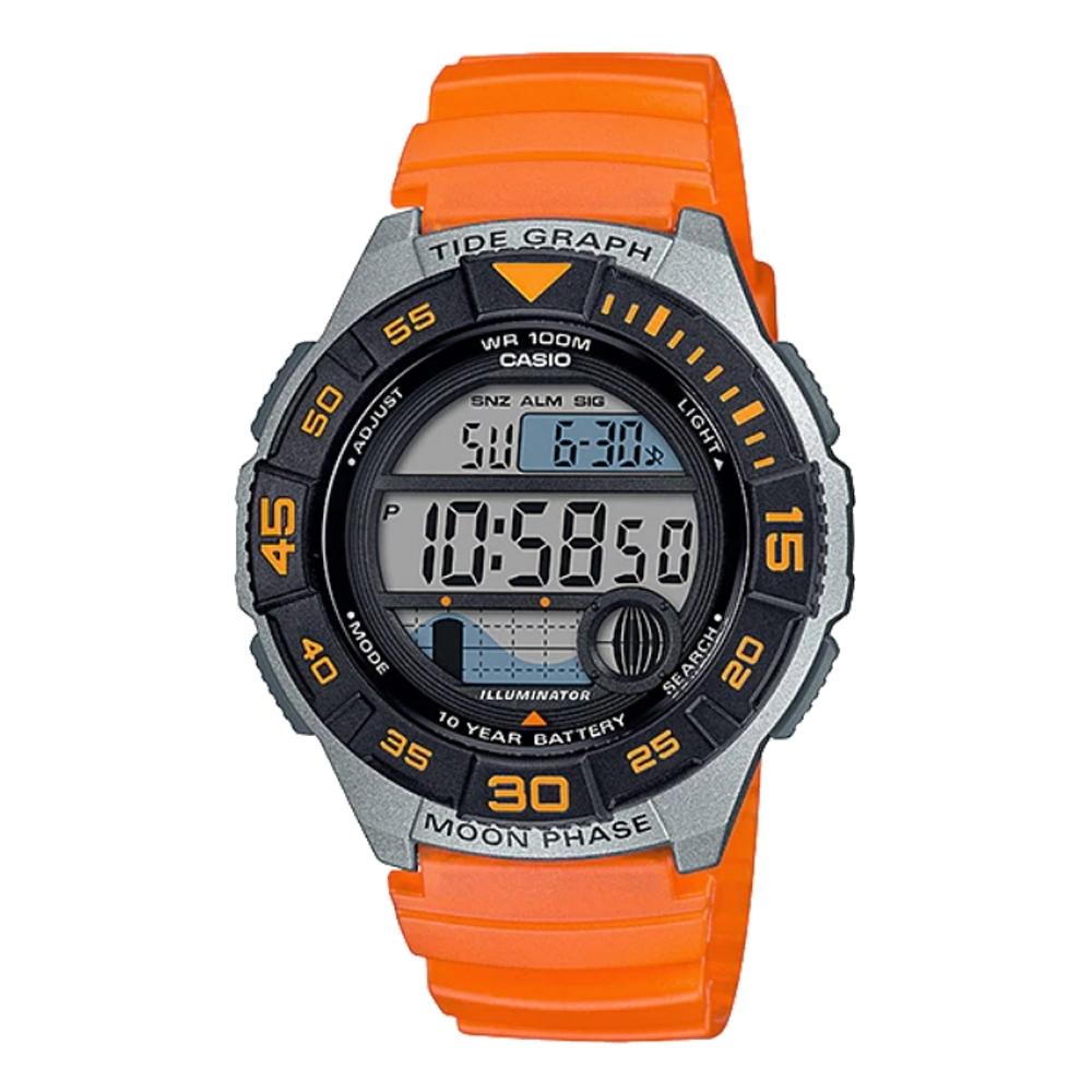 CASIO 活力青春運動腕錶(WS-1100H-4AVDF)橘/40mm