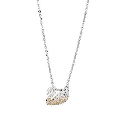 SWAROVSKI 施華洛世奇 天鵝造型水晶雙色項鍊