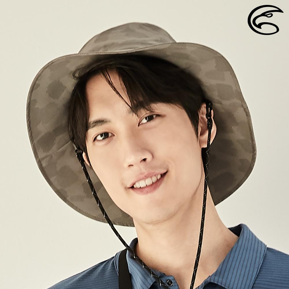 【ADISI】輕量3L防水高透氣印花中盤帽 AH21018 (M-XL) / 油彩濃茶棕