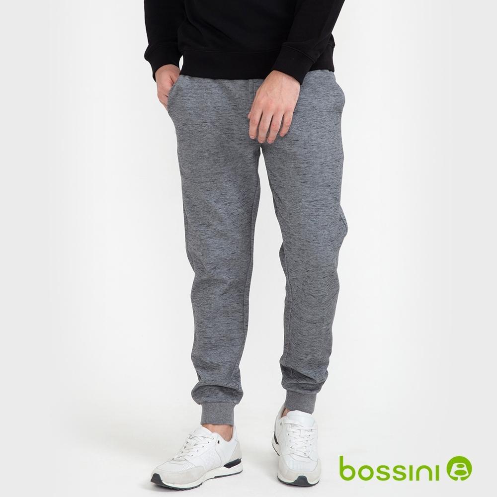 bossini男裝-運動束口棉褲02灰
