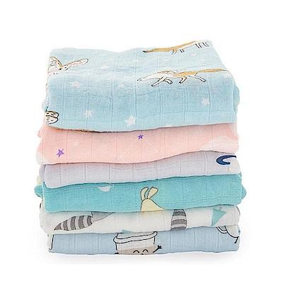 Muslintree雙層紗布包巾竹纖維新生兒蓋毯寶寶包被-2條入