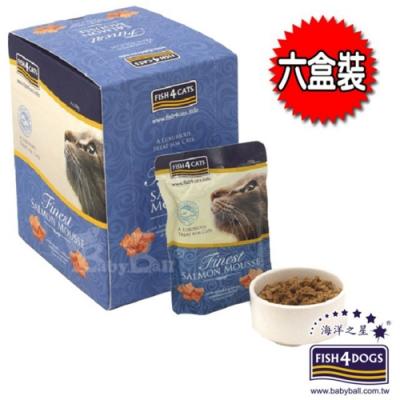 即期良品 海洋之星FISH4CATS 海藻精華鮭魚慕斯 貓用 6盒裝(100gX36入)