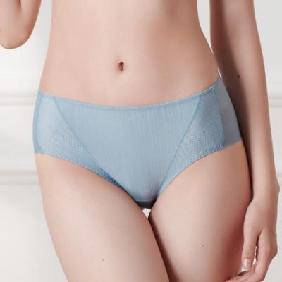 黛安芬-風格自在系列中腰平口內褲 M-EEL 湖水藍