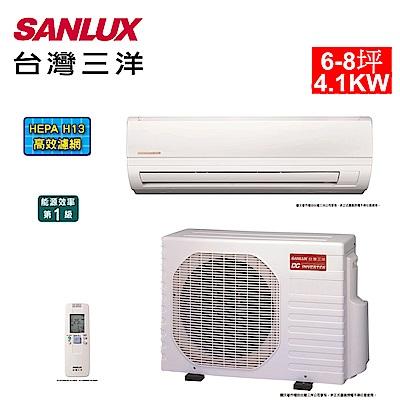 台灣三洋SANLUX 6-8坪精品變頻一對一單冷SAE-41V7/SAC-41V7