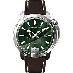 GIORGIO FEDON 1919 永恆系列運動版機械錶-綠x咖啡/45mm