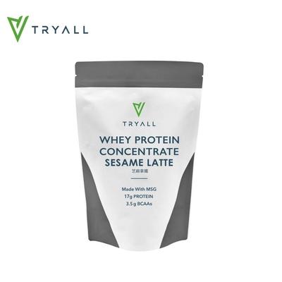 [台灣 Tryall] 濃縮乳清蛋白(500g/袋)-芝麻拿鐵