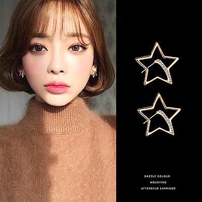 梨花HaNA 韓國925銀精緻氣氛夜空晨星耳環