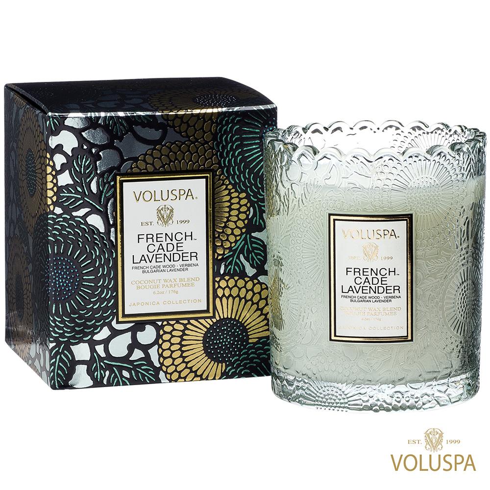 美國香氛VOLUSPA 日式庭園 法國杜松與薰衣草 176g