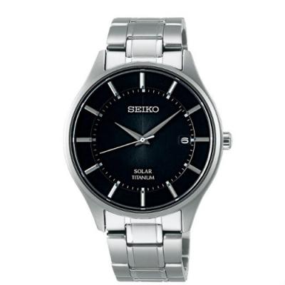 SEIKO精工SPIRIT 太陽能鈦輕簡約腕錶(V157-0BX0D/SBPX103J)