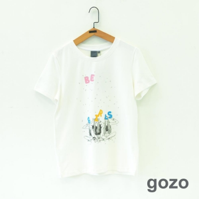 gozo Be Girls設計插畫印花上衣(二色)