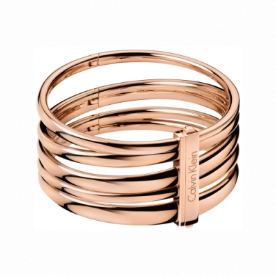 CALVIN KLEIN Sumptuous 系列個性玫瑰金手環-S