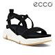 ECCO CHUNKY SANDAL 潮趣增高美背時尚涼鞋  女鞋 黑色 product thumbnail 1