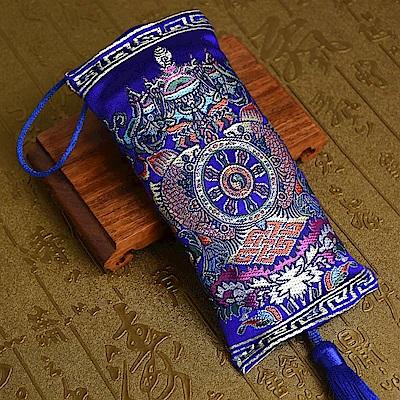 西藏刺繡八吉祥藏藥香包吊飾(車掛) 林真邑