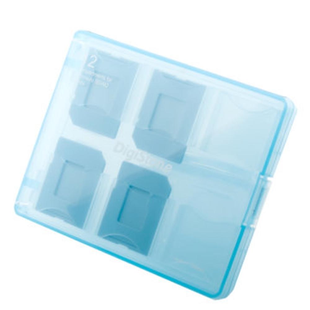 DigiStone 嚴選特A級 多功能記憶卡收納盒(12片裝) 藍色 1個