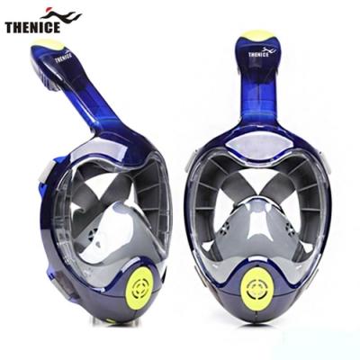 【THENICE】全罩式浮潛呼吸面罩-忍者款