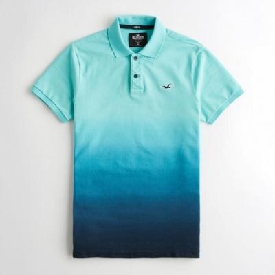 Hollister HCO 短袖 polo 藍色 1213