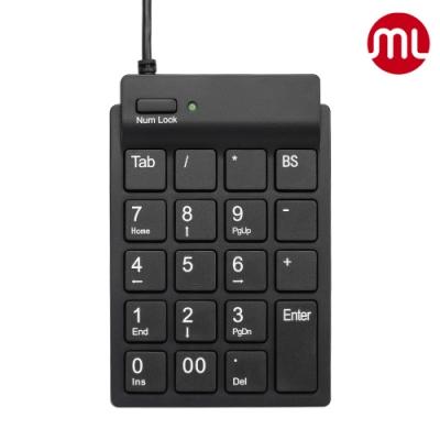 【morelife】超薄USB數字鍵盤-黑SKP-7120H2K