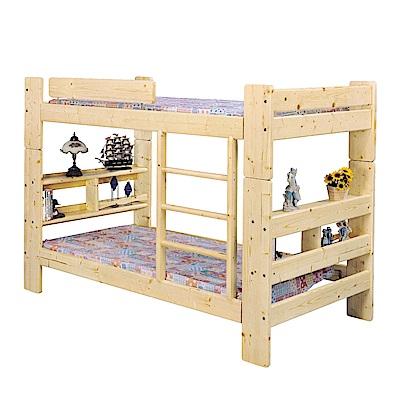 品家居 奇柏3.5尺實木單人雙層床架組合(不含床墊)-212x149x105cm免組