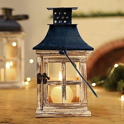 【Meric Garden】北歐復古創意木質風燈/防風燭台