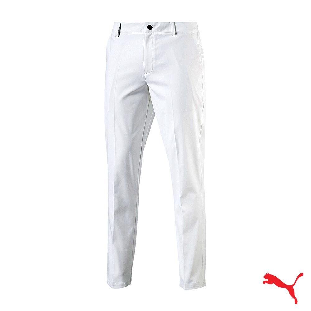 PUMA GOLF 男高爾夫運動長褲 白 572320 09