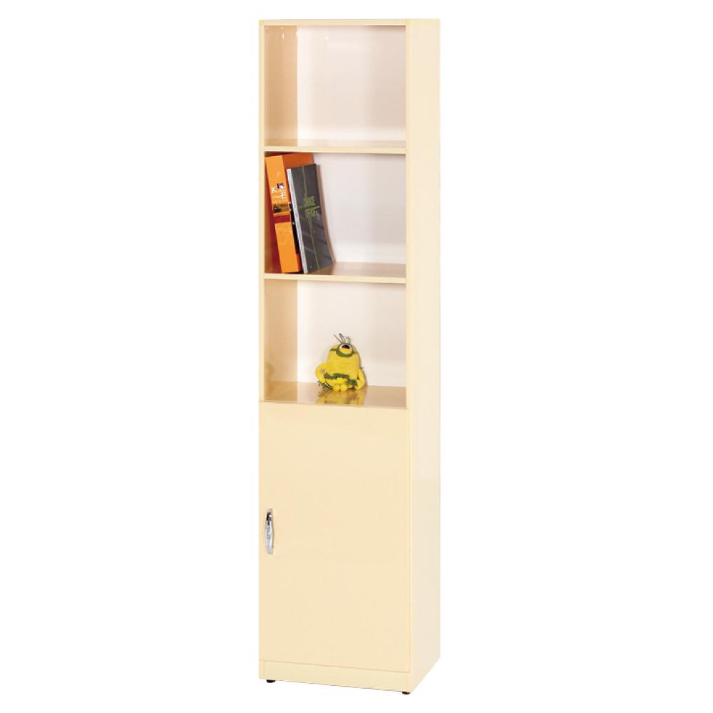 綠活居 阿爾斯環保1.4尺塑鋼單門三格高書櫃/收納櫃-41.5x33x180cm免組