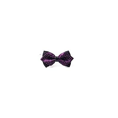 拉福   高檔尖角領結新郎結婚領結糾糾 (兒童格紋深紫色)