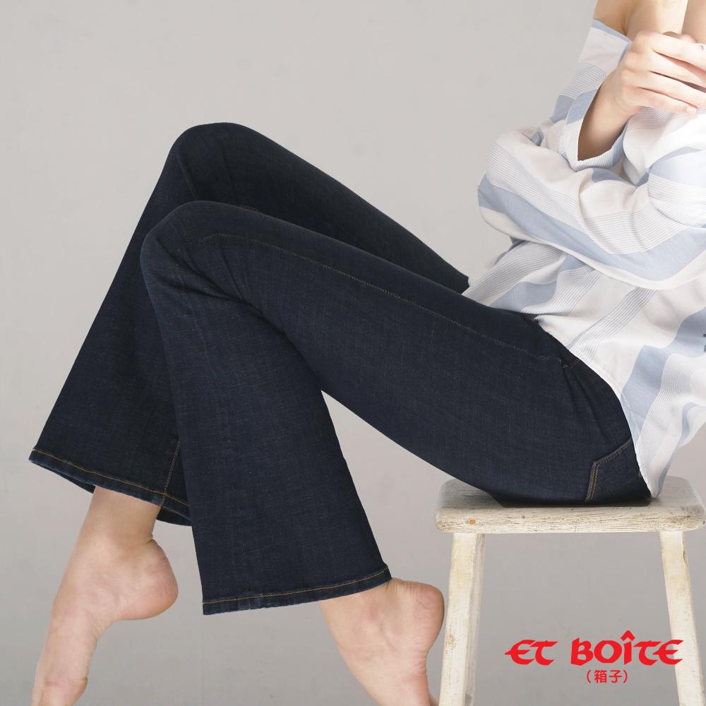 ETBOITE 箱子 BLUE WAY 繩股帶花高腰靴型褲