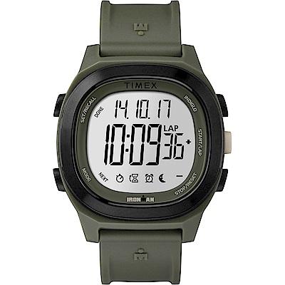 TIMEX 天美時 鐵人系列 多功能電子錶-綠/40mm