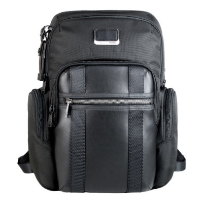 TUMI Alpha NELLIS 系列尼龍拼接後背包(適用15吋筆電)-黑