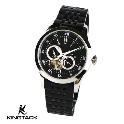 KINGTAGK 時尚鏤空羅馬中性機械錶38mm黑