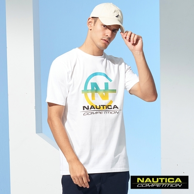 Nautica COMPETITION男裝漸層LOGO短袖T恤-白