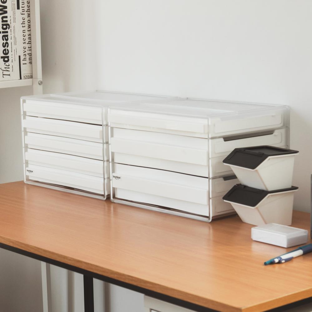 完美主義 桌上型資料櫃/文件櫃/橫式三抽(加高)-2入組