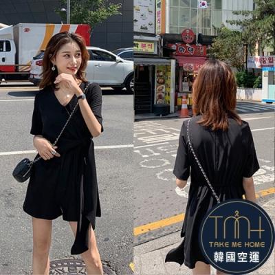 韓國空運 扭結連身褲-2色-TMH