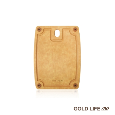 GOLD LIFE 美國原木不吸水抗菌砧板 S (食品級 / 切肉切菜砧)