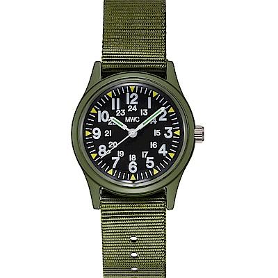 MWC瑞士軍錶 1960經典/70年代 美國軍事越南錶 軍綠款 -黑色/33mm @ Y!購物