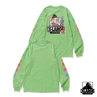XLARGE LS TEE RAINBOW KEITH長袖T恤-綠
