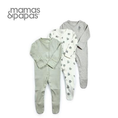 Mamas&Papas 無尾熊納涼-連身衣3件組