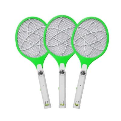 (3入組)【KINYO】小黑蚊剋星四層防觸電捕蚊拍電蚊拍(CM-2222)LED充電式