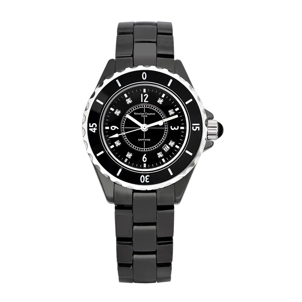 Valentino Coupeau 范倫鐵諾 古柏 精密陶瓷腕錶-黑陶/39mm