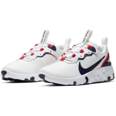 NIKE 中童運動 休閒 童鞋 白 CK4082101 RENEW ELEMENT 55 PS
