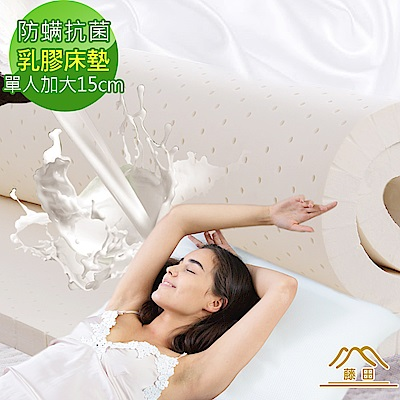 日本藤田 瑞士防蹣抗菌親膚雲柔頂級天然乳膠床墊-15cm-單大