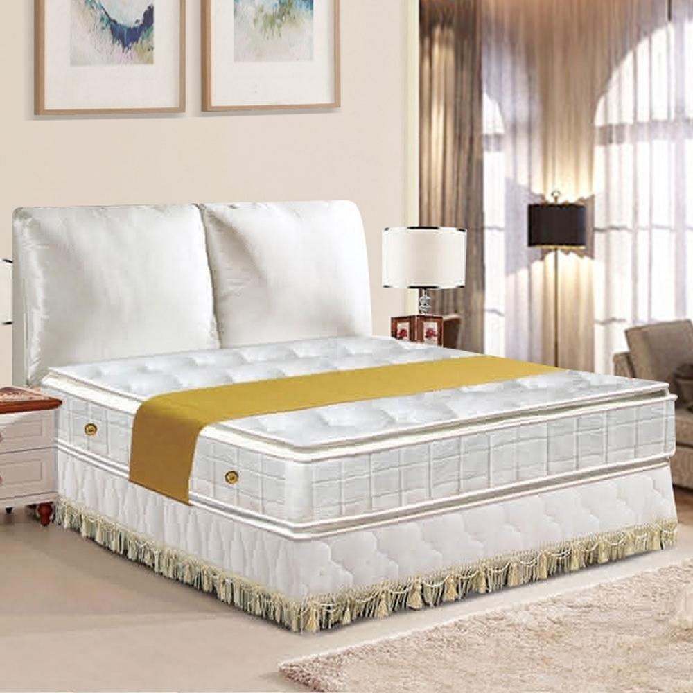布萊迪 Brady  優眠五段式正四線乳膠+記憶棉獨立筒床墊-雙人加大6尺