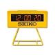 SEIKO 精工 / 日期 計時 貪睡鬧鈴 可拆座架 長方形鬧鐘 電子鐘-黃色 product thumbnail 1