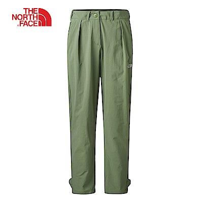 The North Face北面女款綠色吸濕排汗長褲|3RLGZCE