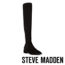 STEVE MADDEN-JOLLY經典魅力粗跟尖頭膝上套靴-絨黑色