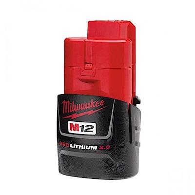 Milwaukee 12V鋰電專用電池2.0AH M12B2