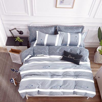 美夢元素 台製-精梳棉-涼被床包組-時尚心情(單人)